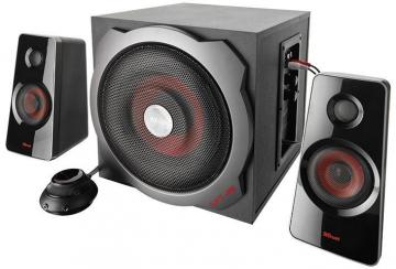 Trust GXT 38 120W 2.1 Subwoofer Speakers - Black