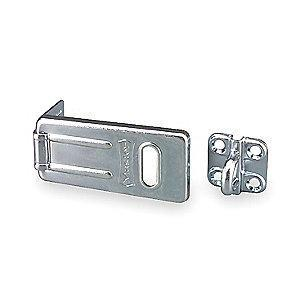 "Master Conventional Fixed Staple Hasp, 1-1/4""H x 1-1/4""W x 2-1/2""L, Zinc Plated Finish"