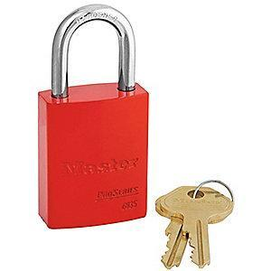 Master Red Lockout Padlock, Alike Key Type, Master Keyed: No, Aluminum Body Material
