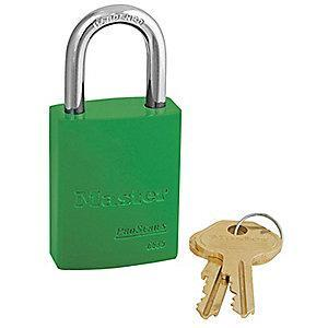 Master Green Lockout Padlock, Alike Key Type, Master Keyed: No, Aluminum Body Material