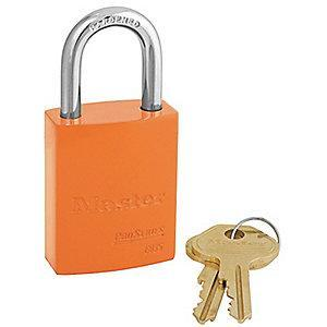 Master Orange Lockout Padlock, Alike Key Type, Master Keyed: No, Aluminum Body Material