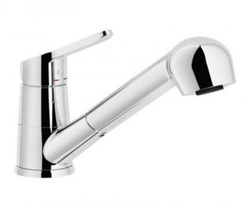 Blanco Abby Pull Out, Dual Spray Faucet, Chrome