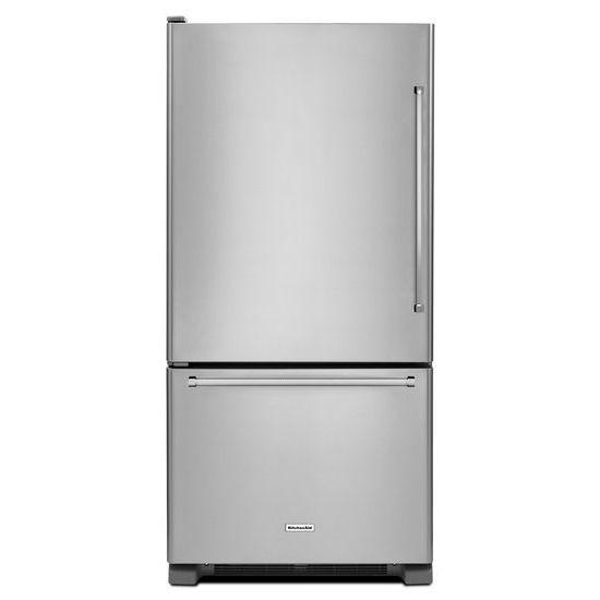 KitchenAid 22.1 cu. ft. Full-Depth Refrigerator with Bottom Mount Freezer in Stainless Steel