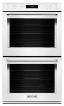 KitchenAid 10 cu. ft. Electric Double Wall Oven with Even-Heat True Convection in White