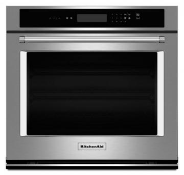 KitchenAid 4.3 cu. ft. Electric Single Wall Oven with Even-Heat Thermal Bake/Broil in Stainless