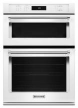 KitchenAid 5.0 cu. ft. Combination Electric Wall Oven with Even-Heat True Convection in White
