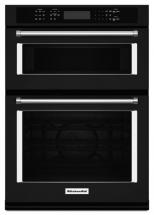 KitchenAid 4.3 cu. ft. Combination Electric Wall Oven with Even-Heat True Convection in Black