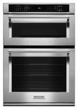 KitchenAid 5.0 cu. ft. Combination Electric Wall Oven with Even-Heat True Convection in Stainless