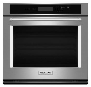 KitchenAid 5.0 cu. ft. Electric Single Wall Oven with Even-Heat Thermal Bake/Broil in Stainless
