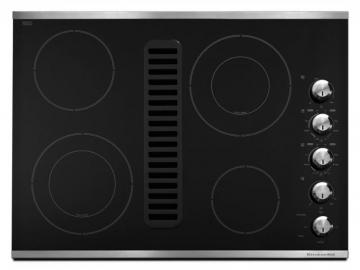 "KitchenAid Architect Series II 30"" Downdraft Electric Cooktop in Stainless Steel"