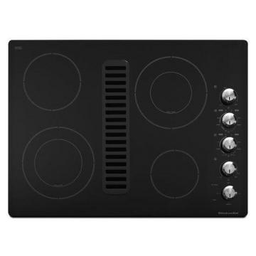 "KitchenAid Architect Series II 30"" Downdraft Electric Cooktop in Black"