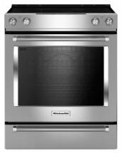 KitchenAid 7.1 cu. ft. Electric Slide-In Convection Range in Stainless Steel