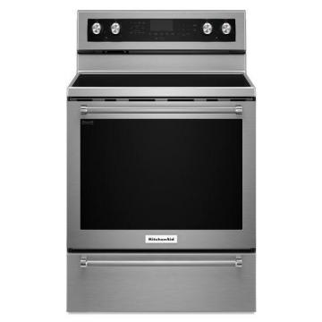 KitchenAid 6.4 cu. ft. Free-Standing Electric Convection Range in Stainless Steel