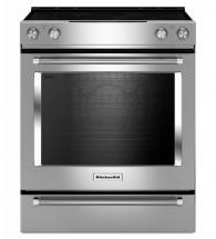 KitchenAid 6.4 cu. ft. Electric Slide-In Convection Range in Stainless Steel
