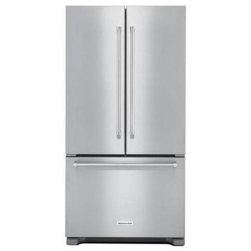 KitchenAid 21.9 cu. ft. Counter-Depth French Door Refrigerator with Interior Dispenser in Stainless