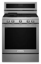 KitchenAid 5.8 cu. ft. 5 Burner Gas Convection Range in Stainless Steel