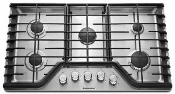 "KitchenAid 30"" Five Burner Gas Cooktop with Even-Heat in Stainless Steel"