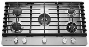 "KitchenAid 36"" Gas Cooktop with Even-Heat Griddle"