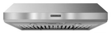 "KitchenAid 36"", 600 CFM Commercial Style Range Hood in Stainless Steel"
