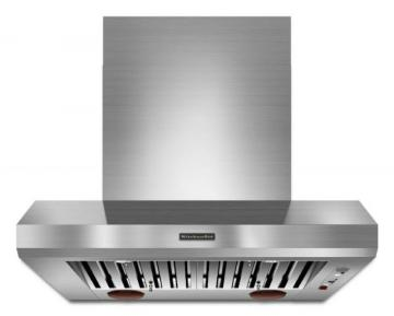 "KitchenAid 36"" Commercial Style Canopy Range Hood in Stainless Steel"