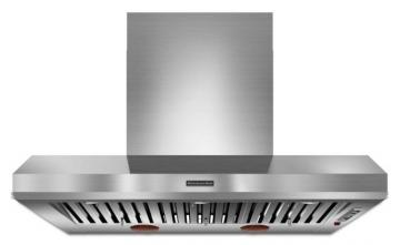 "KitchenAid 48"" Commercial Style Canopy Range Hood in Stainless Steel"