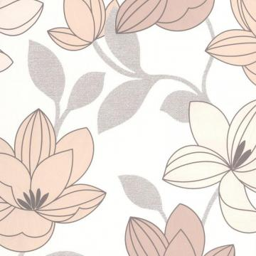Graham & Brown Superflora Beige/Brown/White Wallpaper