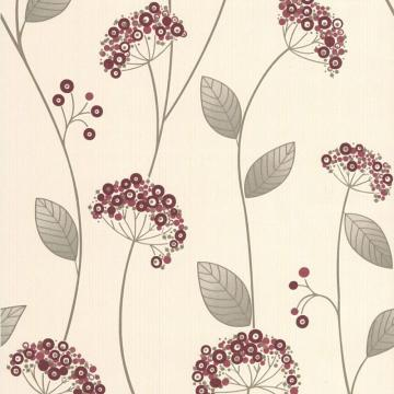 Graham & Brown Claire Red/Gold/Cream Wallpaper