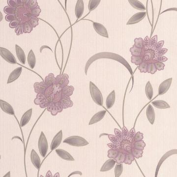 Graham & Brown Sadie Lavender/Pink/Cream Wallpaper
