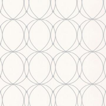 Graham & Brown Darcy White/Silver Wallpaper