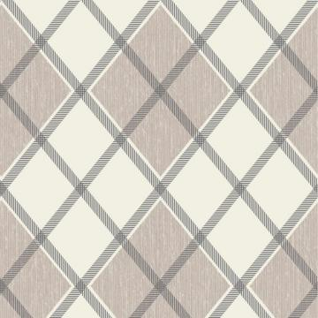 Graham & Brown Argyle Tan/Cream Wallpaper