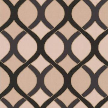 Graham & Brown Highbury Black/Beige/Gold Wallpaper