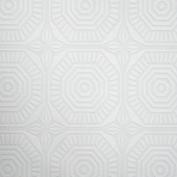 Graham & Brown Medallion Panel Paintable White Wallpaper
