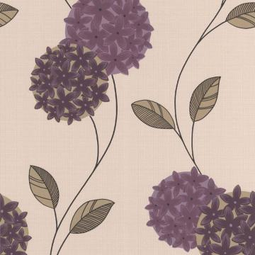 Graham & Brown Pippa Purple/Cream Wallpaper