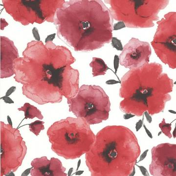 Graham & Brown Poppies Red/Cream Wallpaper