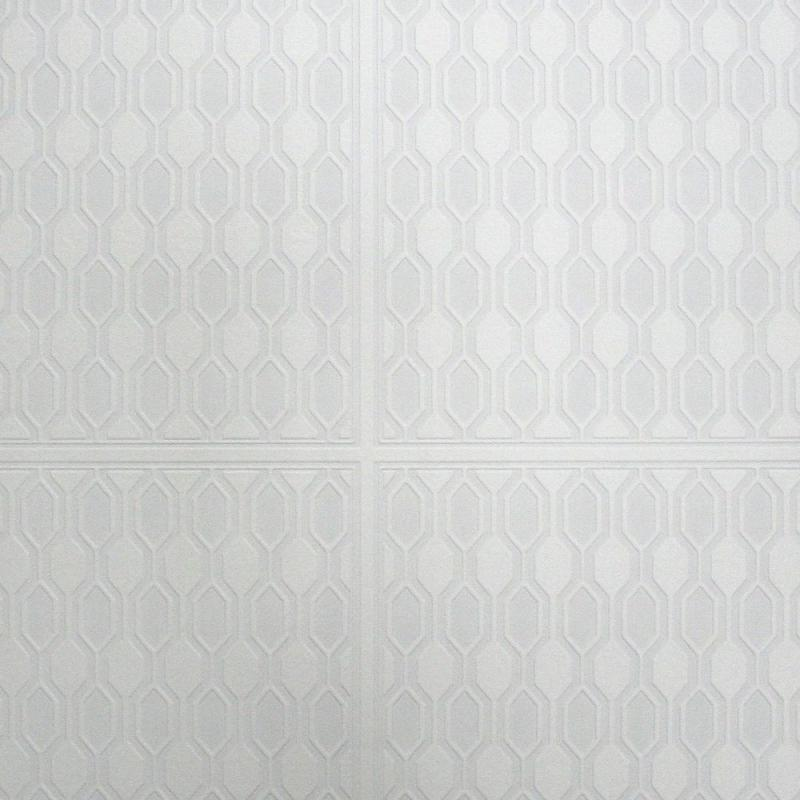 Graham & Brown Geo Panel Paintable White Wallpaper
