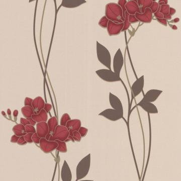 Graham & Brown Serene Red/Cream Wallpaper