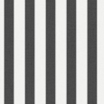 Graham & Brown Ticking Stripe Black/Cream Wallpaper