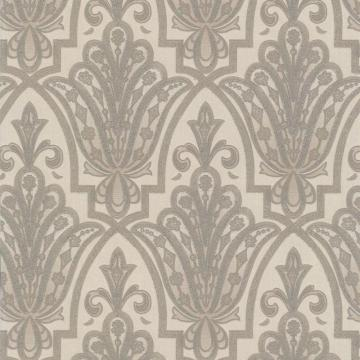 Graham & Brown Ritzy Cream/Silver Wallpaper