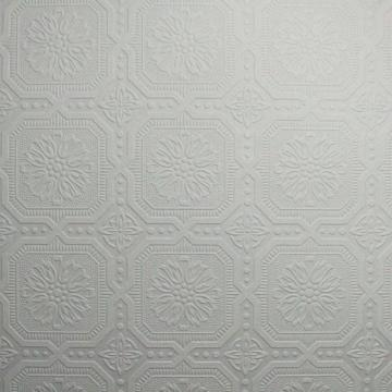 Graham & Brown Ceiling Tile Paintable White Wallpaper