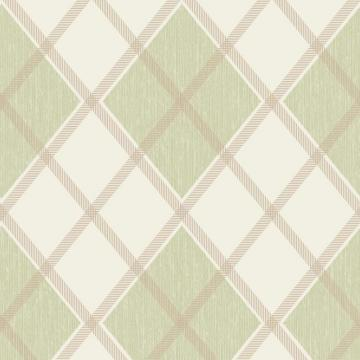 Graham & Brown Argyle Green/Cream Wallpaper