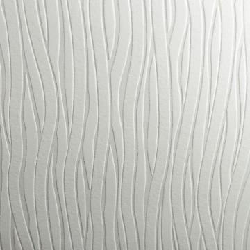 Graham & Brown Wavy Lines Paintable White Wallpaper