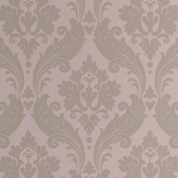 Graham & Brown Vintage Flock Taupe/Moss Wallpaper