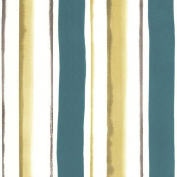 Graham & Brown Waterfall Teal/Green/Cream Wallpaper