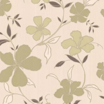 Graham & Brown Rapture Green/Brown/Cream Wallpaper