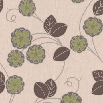Graham & Brown Horizon Green/Brown/Cream Wallpaper