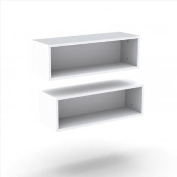 Nexera Blvd Rectangular Wall Shelves (2)