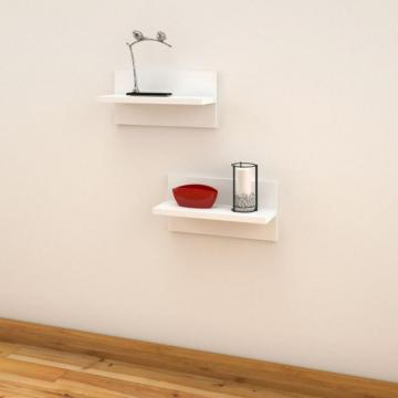 "Nexera Liber-T 19"" Floating Shelves (2-Pack)"