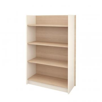 Nexera Atelier 4-Shelf Bookcase, Natural Maple & Ivory