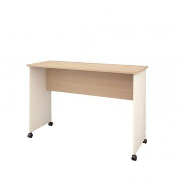 Nexera Atelier Mobile Work Surface, Natural Maple & Ivory