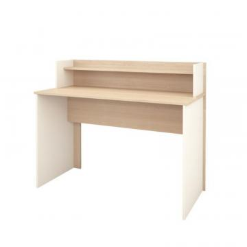 "Nexera Atelier 48"" Desk with Hutch, Natural Maple & Ivory"